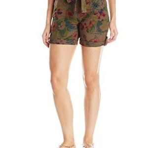New Sanctuary Women's Floral Print Linen Shorts